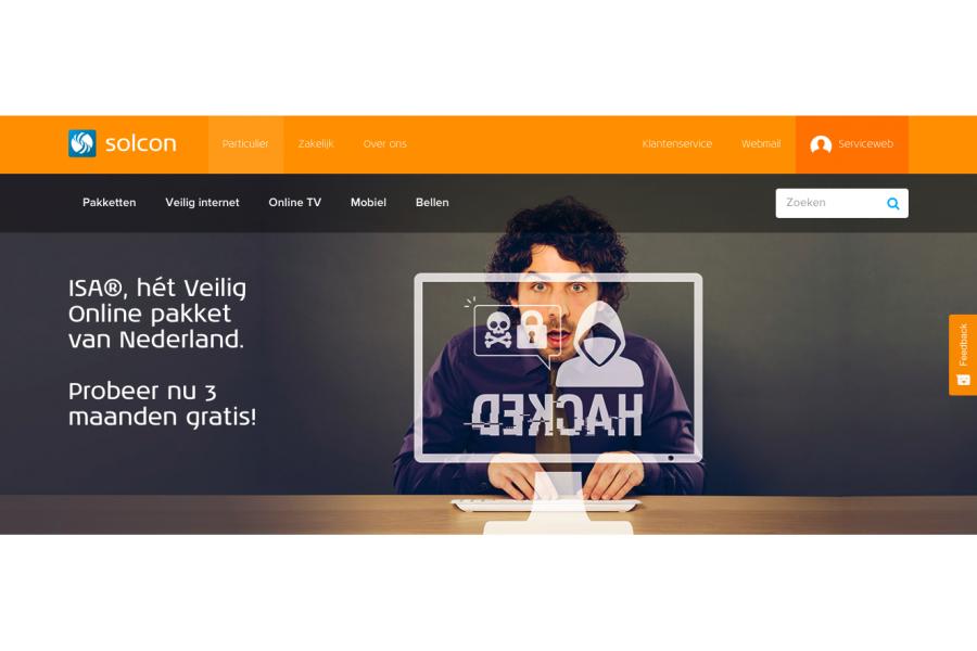 Campagne 'ISA Veilig Online' voor internetprovider Solcon2