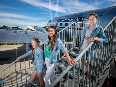 Fotoshoot Coronamaatregelen en nieuwe attractie: vliegtuig