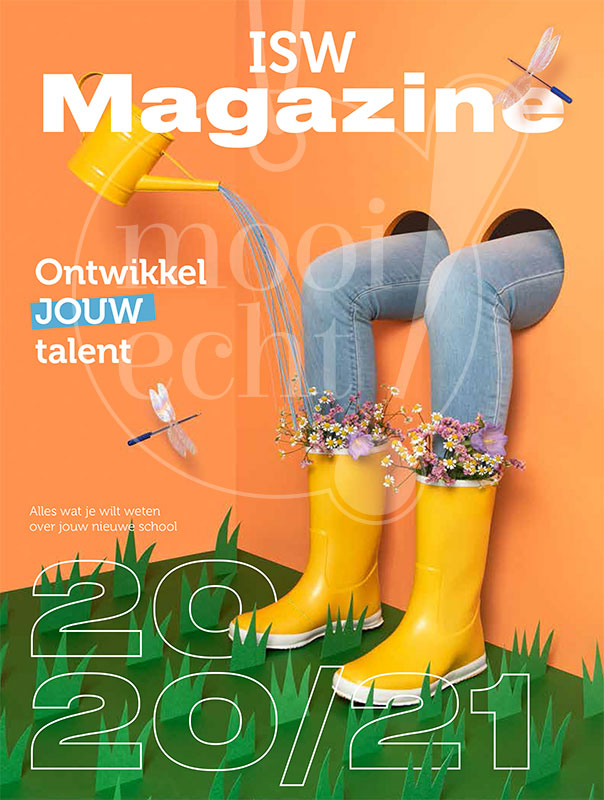 Fotoshoot voor nieuwe schoolbrochure ISW1